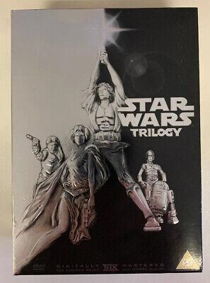 Star Wars - The Original Trilogy (DVD, 2006, 4-Disc Set, Box Set) HA