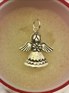 Sterling silver guardian angel protection pendant charm