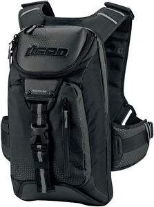 Icon Squad 3 Motorcycle Riding Backpack Back Pack Black