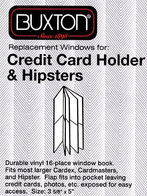 New Clear Plastic Wallet Inserts for Credit Card Holder & Hipsters Pack of 2