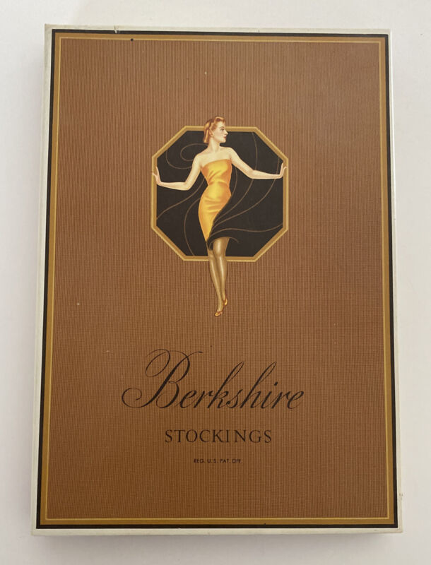 Vintage Berkshire Stockings Hosiery Original Box - Art Deco