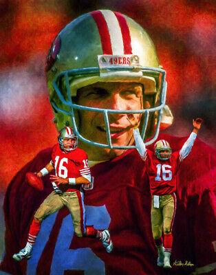 Joe Montana San Francisco 49ers Quarterback 3 NFL Football 8x10-48x36 CHOICES 8 San Francisco 49ers Football