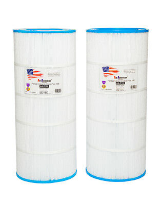 2 PK Pentair Clean Clear 100, Pool Filter Unicel C9410, Pleatco PAP 100, R173215 ()