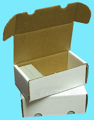 3 BCW 400 COUNT CARDBOARD STORAGE BOXES Trading Sports Card Holder Case -