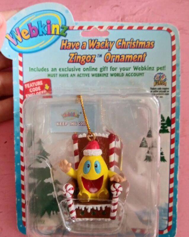 New nip Webkinz Have a Wacky Christmas Zingoz ornament holiday toy fun gift