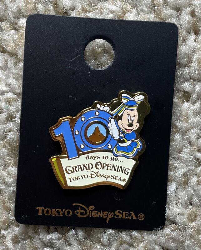 Disney Pin Tokyo DisneySea 10 Days To Grand Opening Minnie Mouse Pin 9559