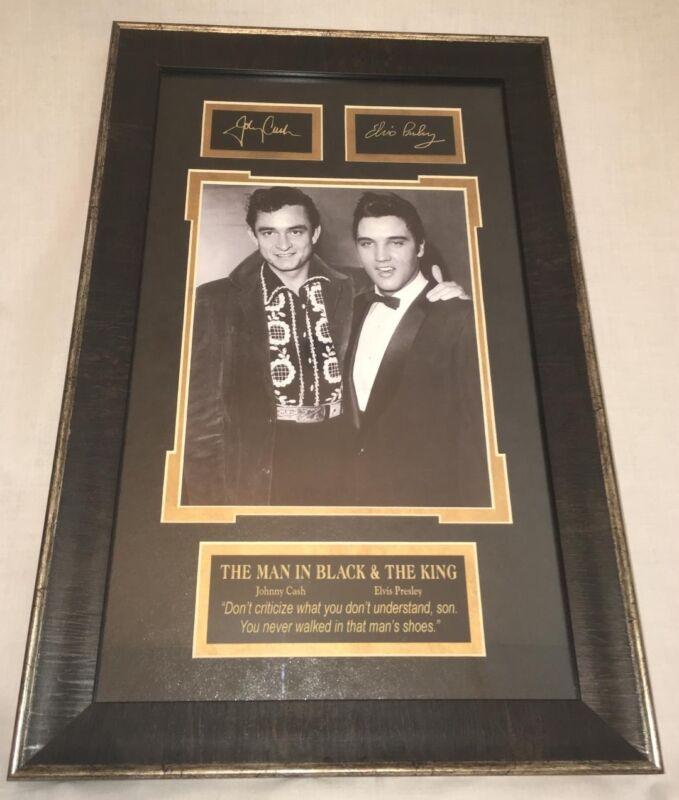 Elvis Presley And Johnny Cash Autograph Picture
