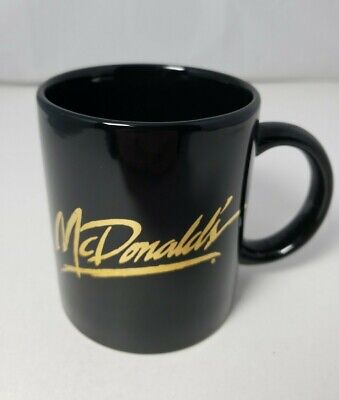 McDonald's Vintage Black and Gold Coffee Mug
