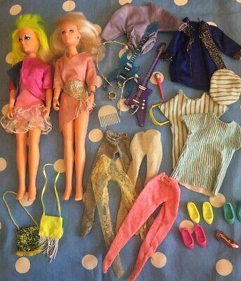 1980s HASBRO JEM DOLLS Clothes Guitars Mic Shoes JEM JERRICA Misfits Doll LOT