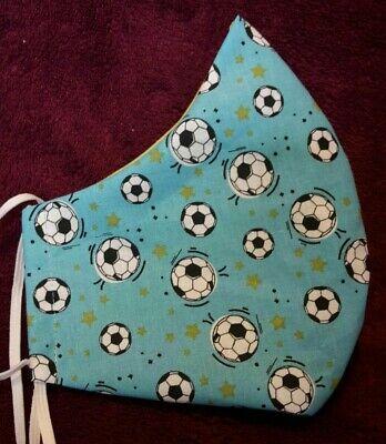 Männer-Maske XL Behelfsmaske Fußball Alltagsmaske Mundschutz Baumwolle Bequem