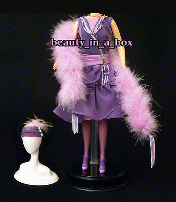 1920's Flapper Period Piece Feather Boa Fashion for Barbie Doll