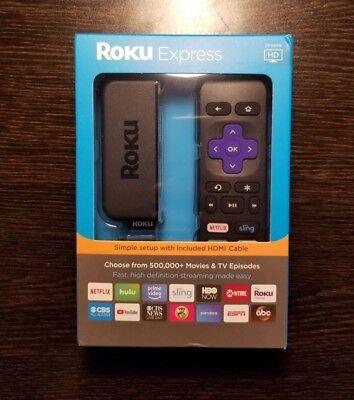 Roku Express HD Digital Streaming Media Player Black3900R (Latest Model)