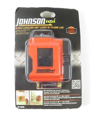 Johnson 40-6606 Self-leveling 360 Degree Line Laser Level With Plumb Layout Line