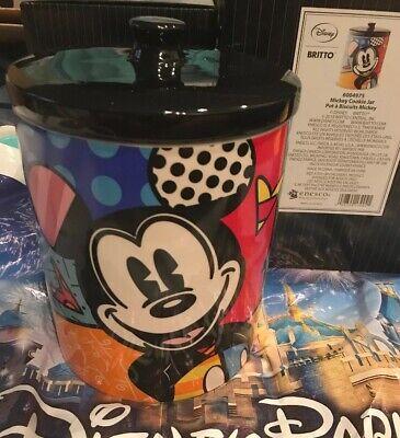 Disney Britto Mickey Cookie Jar 6004975 New with Box