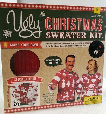 DIY Ugly Christmas Sweater Kit Make Your Own Ugly Sweater Sz Snall RED # 2471](Make Your Own Christmas Sweater)