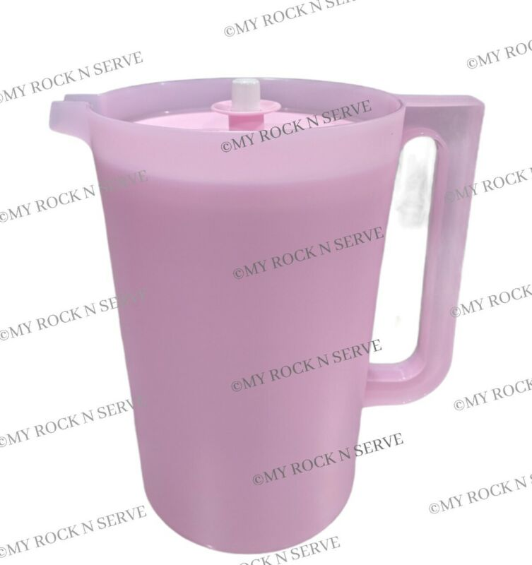 Tupperware 1 Gallon Pitcher with Button Pink Delight  NEW