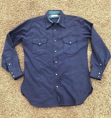 1940s Men's Shirts, Sweaters, Vests Vintage MEN'S PENDLETON 100% VIRGIN WOOL SHIRT USA  Large L vtg pearly 1940s $139.99 AT vintagedancer.com