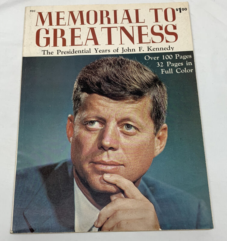 MEMORIAL TO GREATNESS Large Paper Back Presidential Years Of JFK John F .Kennedy