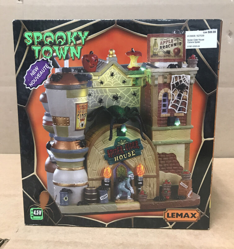 Halloween Lemax Spooky Town, Spider Cider House 2020