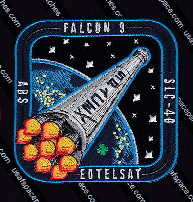Abs 3A   Eutelsat 1 Spacex Original Falcon 9 Launch Satellite Space Patch