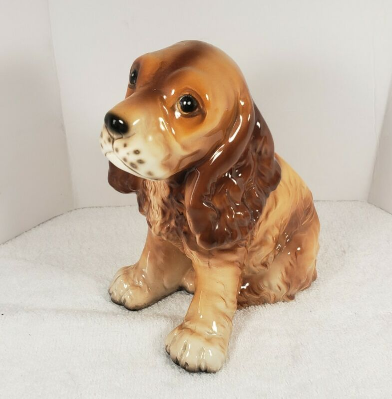 """Vintage Spaniel Dog Planter Made In Japan 7"""" Tall"""