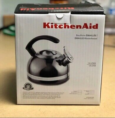 KitchenAid 2.0-Quart Kettle Porcelain Enamel - KTEN20CBPR All Cooktops Safe Tea