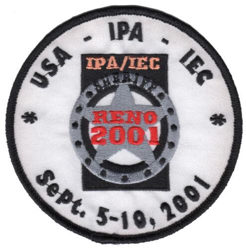 International Police Association IPA - USA - IEC Meeting 2001 - Patch