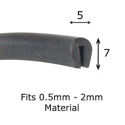 Rubber U Channel Edging Trim Seal Square 13mm x 13mm