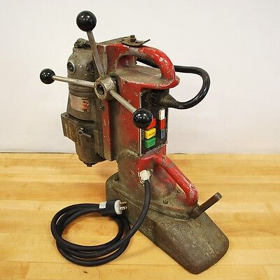 Milwaukee 4297-1 Magnetic Drill Press. 120vac 11.5 Amp 60 Hz - Used