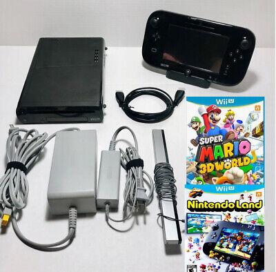 Nintendo Wii U Deluxe Console 32GB Bundle & Controller+Mario 3D World!