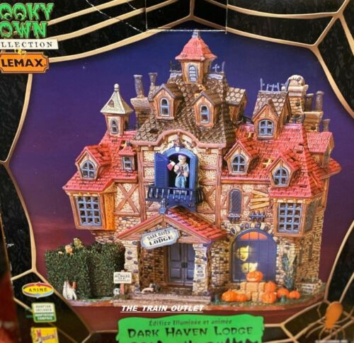 RARE RETIRED Lemax Spooky Town Dark Haven Lodge 75499 HALLOWEEN NEW IN BOX  B13