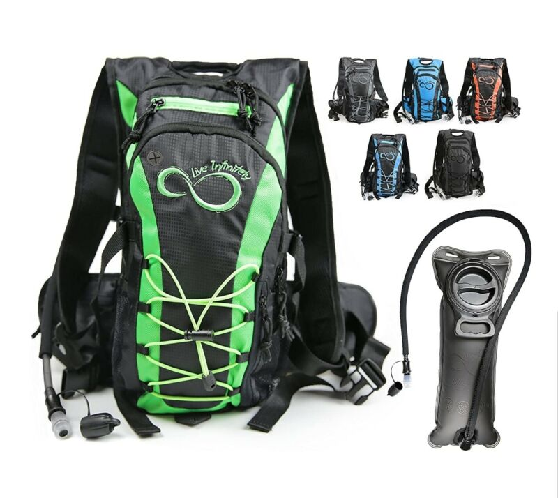 Live Infinitely Hydration 10L Cap Backpack w/ 2.0L TPU Leak Proof Water Bladder