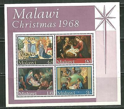 MALAWI 94A MNH SOUVENIR SHEET CHRISTMAS 1968