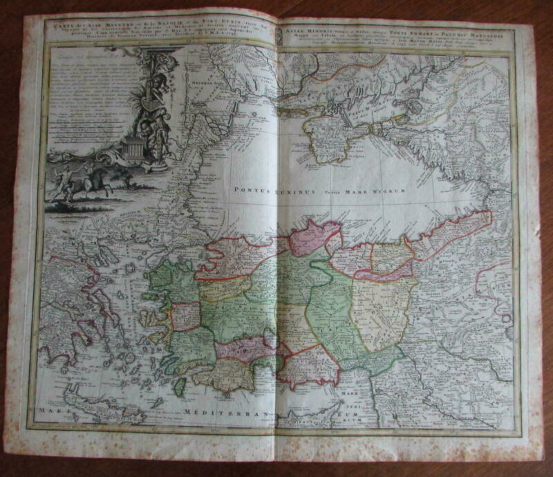 Asia Minor Black Sea Turkey Crimea Armenia 1743 Homann Heirs decorative map