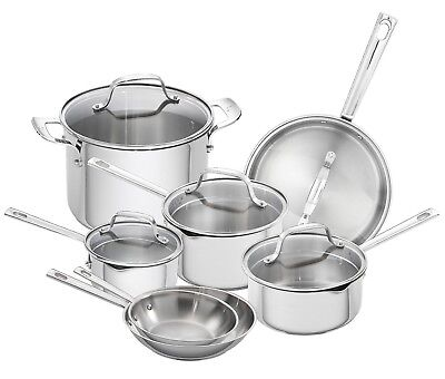 Emeril Lagasse 12 Piece Stainless Steel Induction Safe Cookware Set (Emeril Stainless Steel Cookware)
