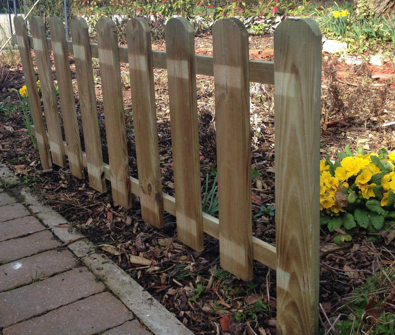 8 X WOODEN Panel Picket Fencing - Garden Wood Panel Border Fence ...