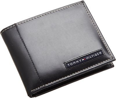 Tommy Hilfiger Men's Leather Credit Card Wallet Bifold Black 5675-01