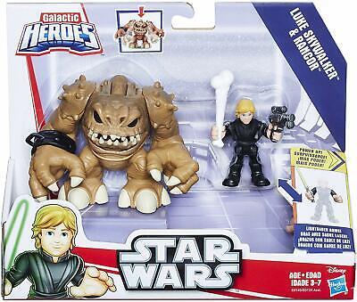 Hasbro Star Wars Galaxy Heroes Luke Skywalker & Rancor Figure Set Brand New