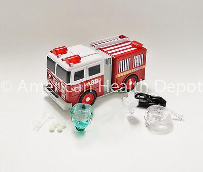 Child Pediatric Nebulizer Aerosol Compressor For Asthma Copd Fire Engine Model