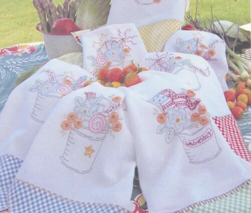 Crab-apple Hill Embroidery Pattern-3 Cheers For the Red, White & Blue