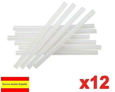 12 BARRAS de 7mm PISTOLA DE SILICONA COLA CALIENTE PEGAMENTO TERMOFUSIBLE H0102