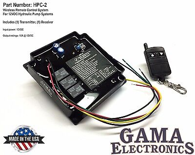 Hpc-2 Rf Remote Control 12 Vdc For Hydraulic Pump Applications