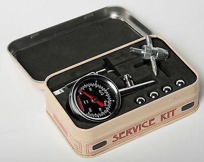 THE VINTAGE TYRES TYRE SERVICE KIT - Pressure gauge, tread depth, valve tool etc