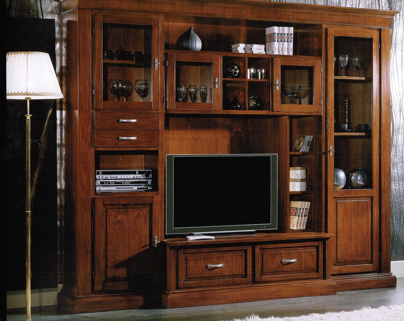 Parete attrezzata classica soggiorno libreria - Parete attrezzata classica prezzi ...