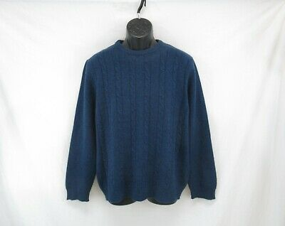 Guise Men's 100% Cashmere Crew Neck Cable Knit Pullover Sweater Size L #CK711