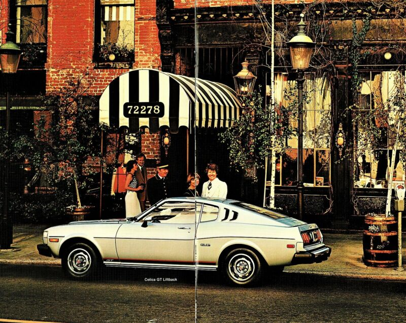 1977 Toyota Celica GT Liftback GT Hardtop ST Hardtop Deluxe Sales Brochure