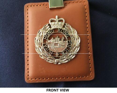 Collectible rare Royal Hong Kong Police Leather key chain w/PTU badge, new