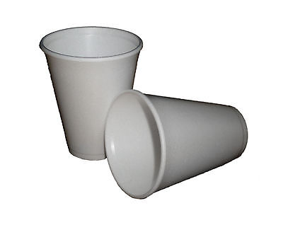 12 Oz White Foam Cups (100 - 12oz WHITE FOAM / POLYSTYRENE DISPOSABLE PARTY CUPS + SPECIAL OFFER)
