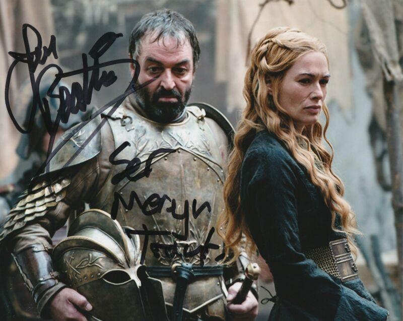 Ian Beattie Autograph Game of Thrones 8x10 Photo Meryn Trant Signed COA 2
