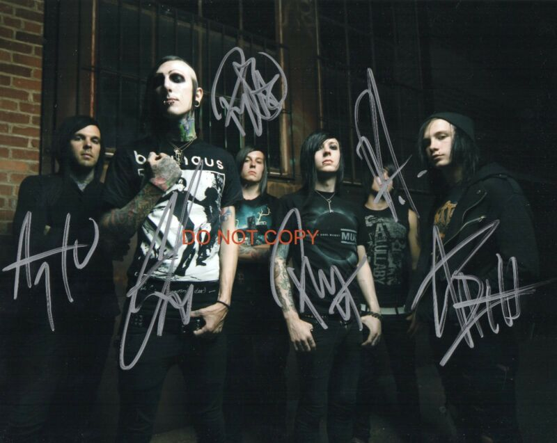 """Motionless In White heavy metal band Reprint Signed 11x14"""" Poster Photo #1 RP"""
